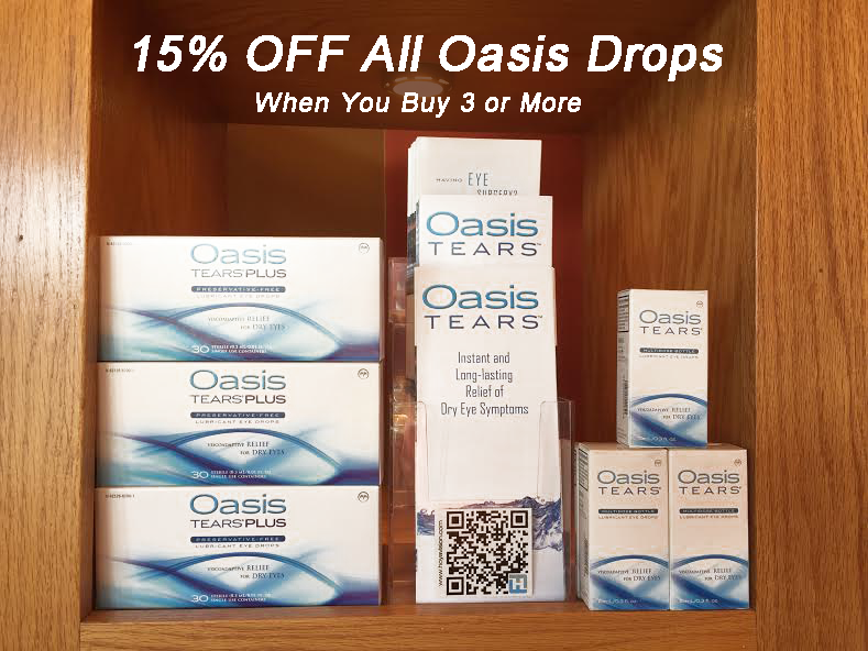 15% off oasis contact lenses